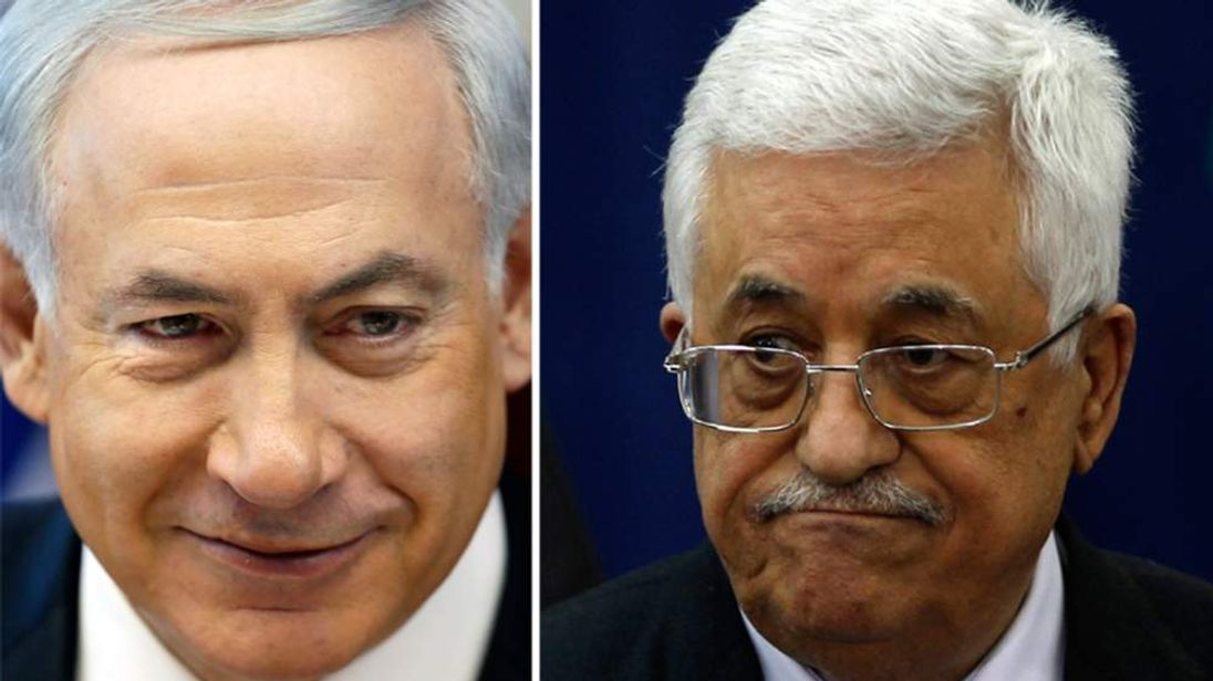 Benjamin Netanyahu and Mahmoud Abbas