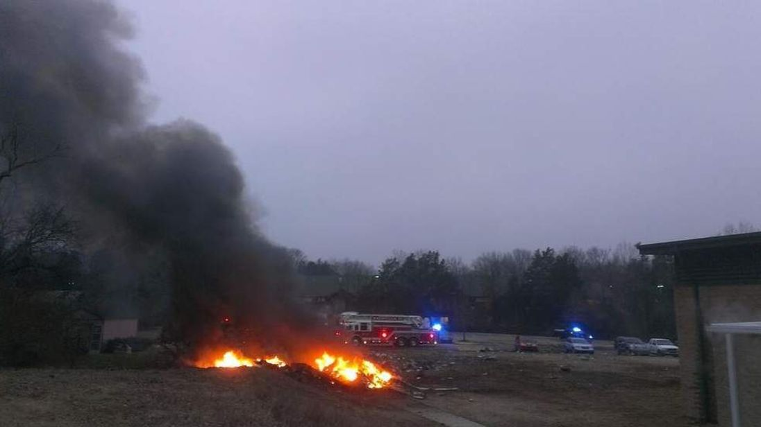 Bellevue, southwest of Nashville US plane crash site