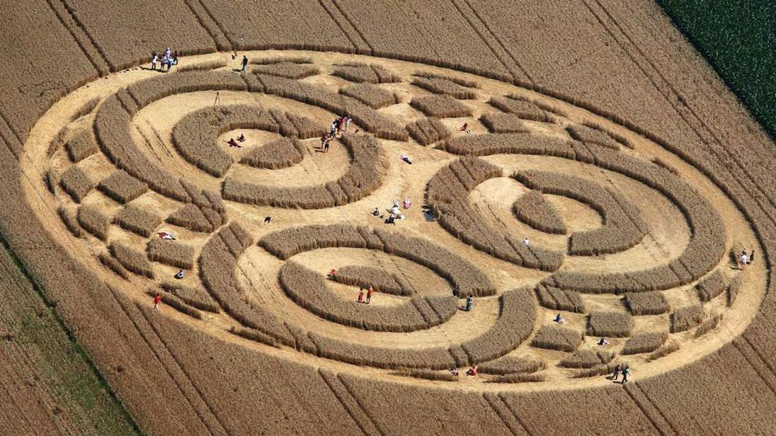 A crop circle in Germany