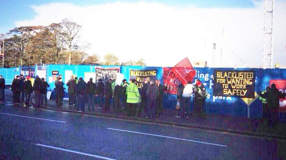 The protest outside Alder Hey hospital