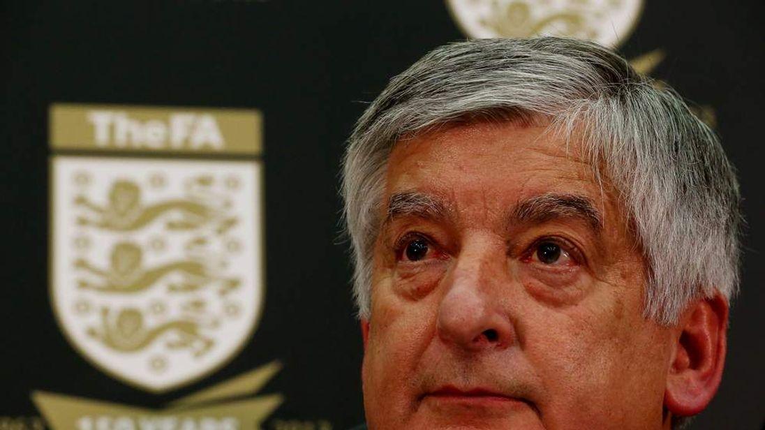 FA Chairman David Bernstein At News Conference