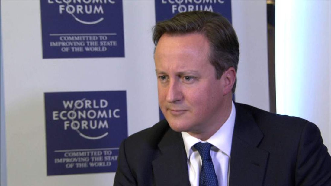 David Cameron speaks to Sky's Mark Kleinman