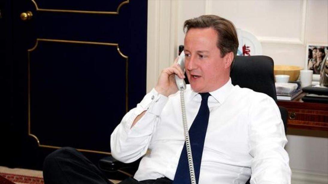 David Cameron phones Barack Obama