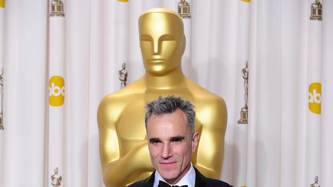 Daniel Day Lewis after winning Best Actor at the Oscars for the third time
