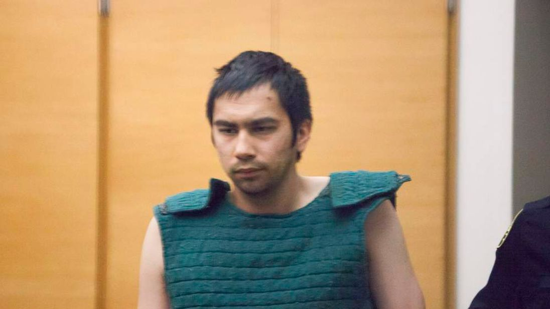Ybarra appears in court at the King County Jail in Seattle