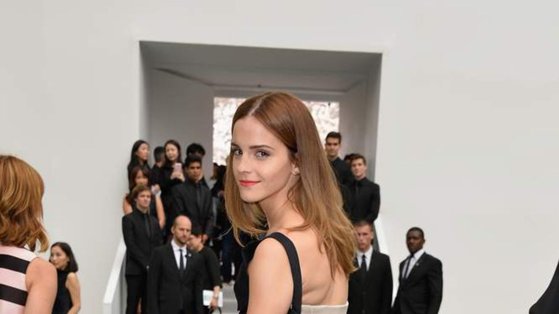 Emma Watson attends the Christian Dior show as part of Paris Fashion Week