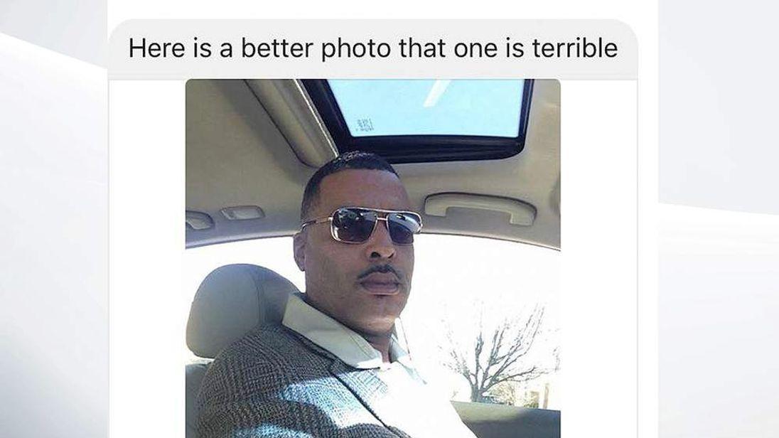 Donald Pugh sends cops a selfie to replace 'terrible' mugshot