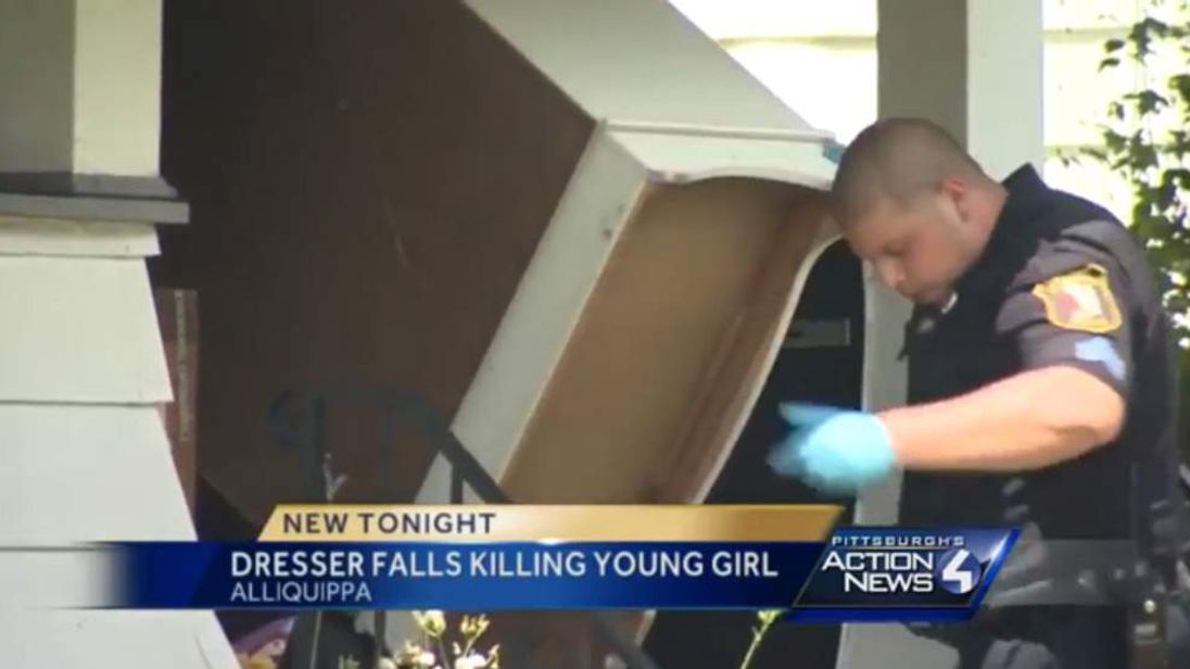 Sister killed after furniture falls on them Pic: WTAE