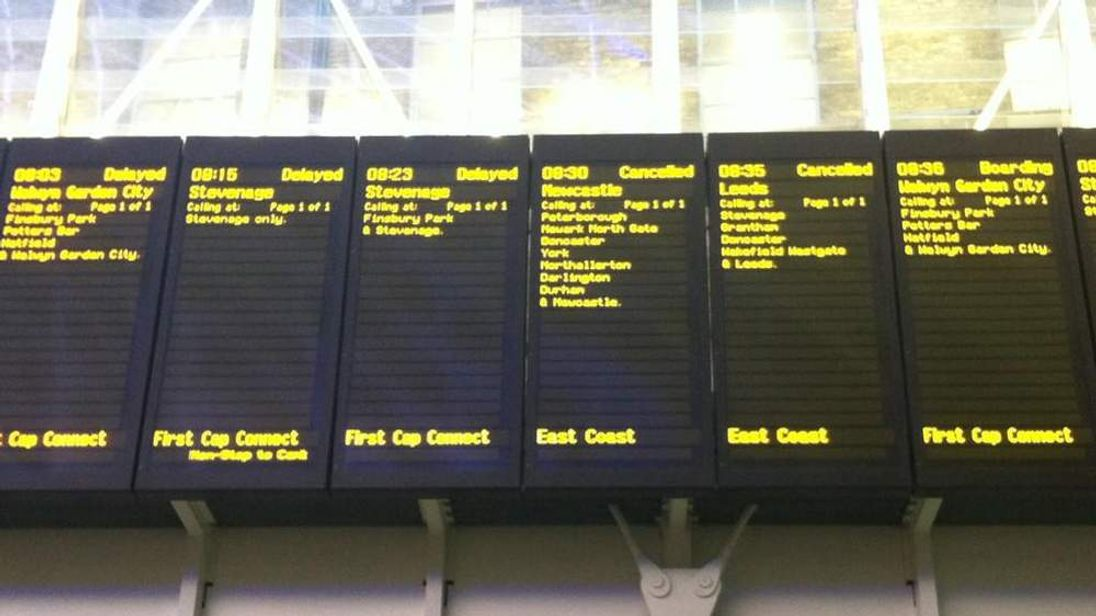 Picture from King's Cross station