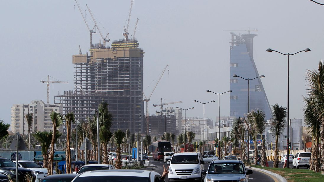 Construction projects have ground to a halt after the oil price crash (File pic)