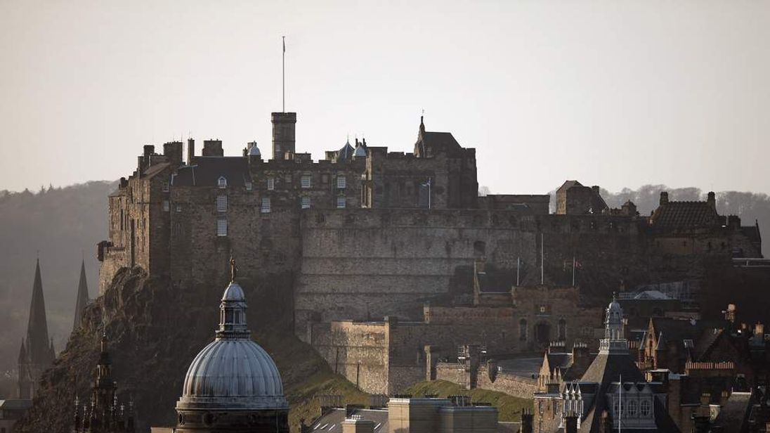 Edinburgh Castle, ahead of the second debate on Scottish independence
