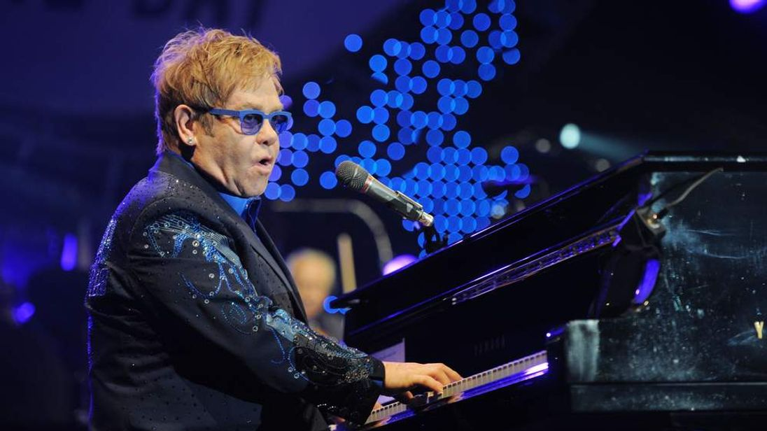 Elton John at Peace One Day Concert - London