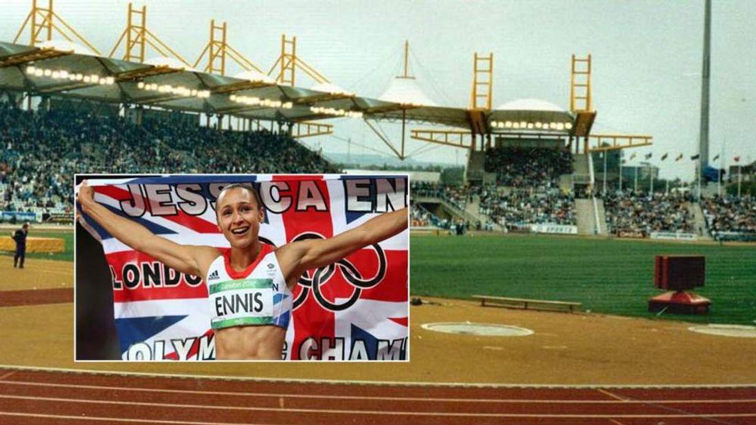 Jessica Ennis and Don Valley Stadium