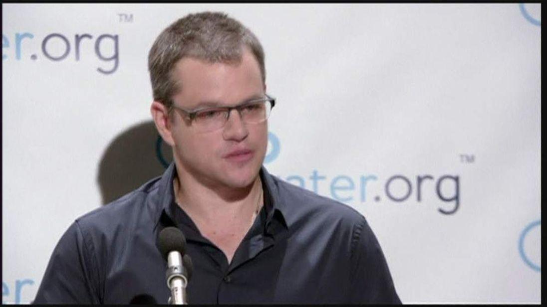 Matt Damon annonced 'toilet stirke' for global water crisis