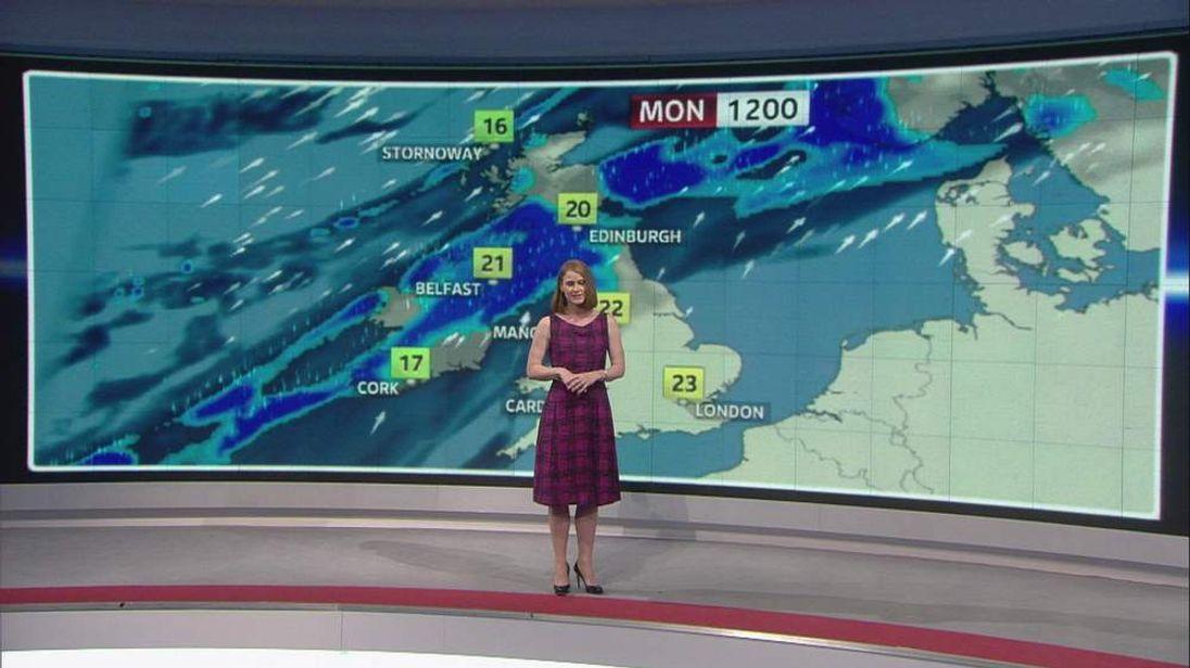 Sky News weather presenter Isobel Lang