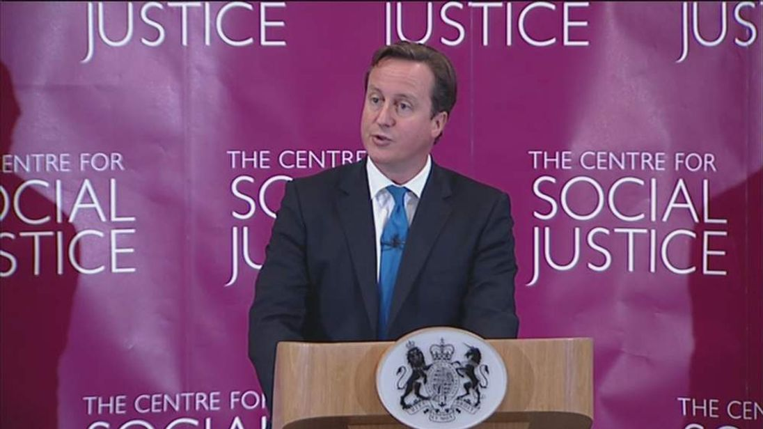 David Cameron on law and order