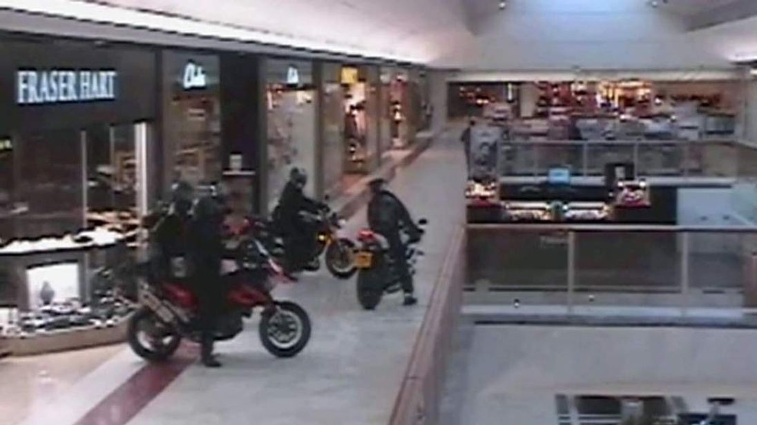 Motorbike gang in Brent Cross shopping centre robbery