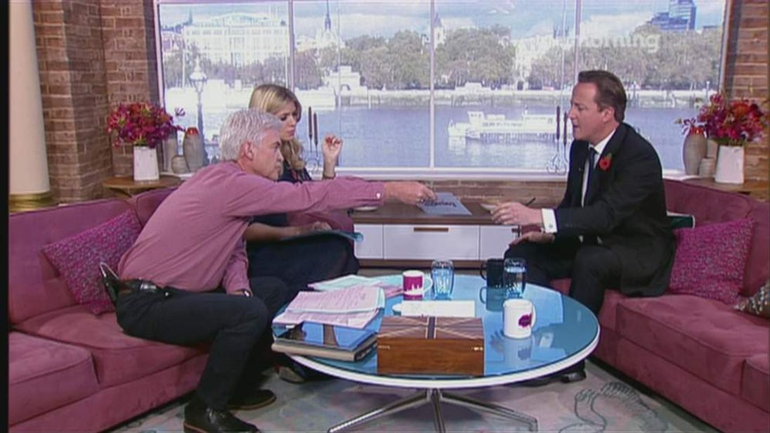 David Cameron on This Morning
