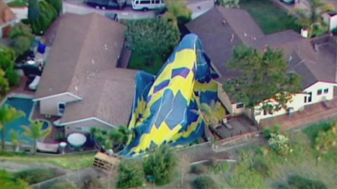 Hot air balloon crash in San Diego