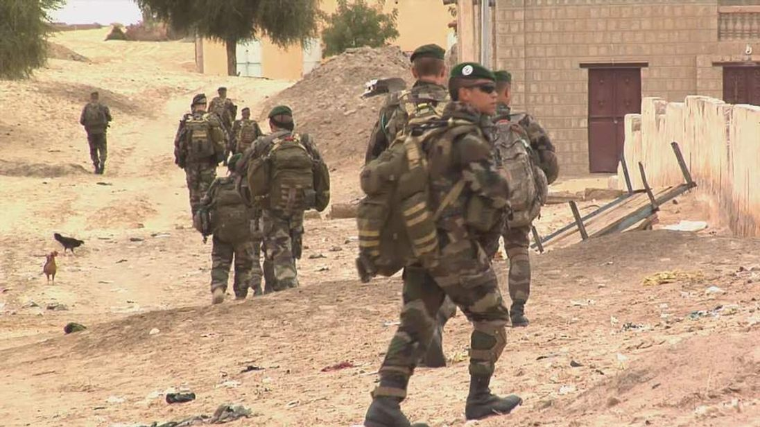 Frenmch troops on the ground in Timbuktu