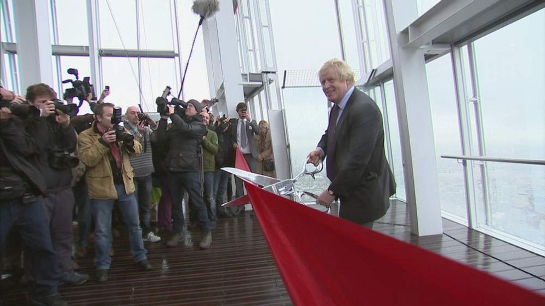 Mayor Of London Boris Johnson officially opens The View at The Shard