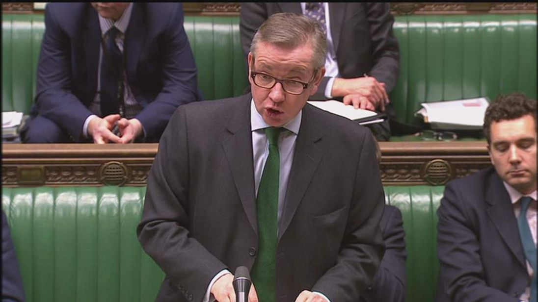 Michael Gove in the House of Commons