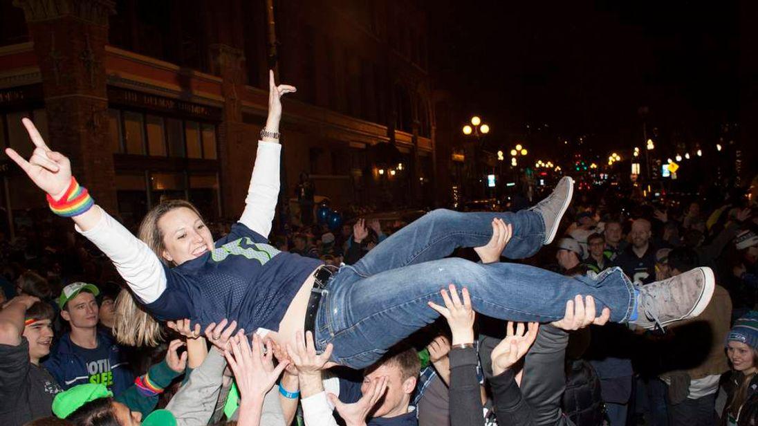 Fans Celebrate Super Bowl Win