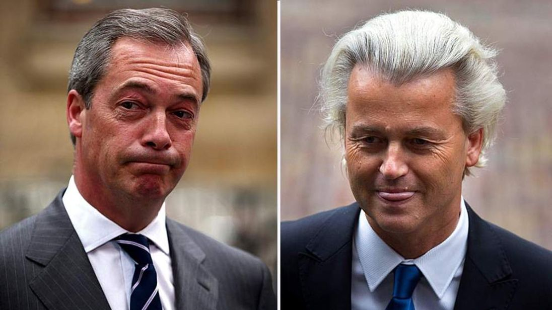 Nigel Farage and Geert Wilders
