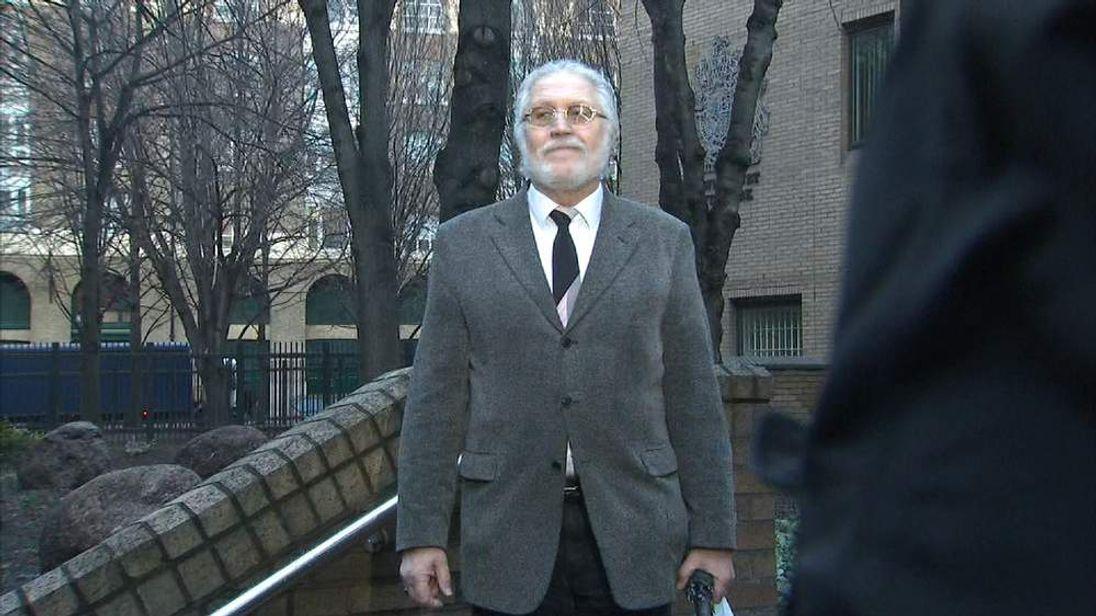 Dave Lee Travis arrives for court on Thursday
