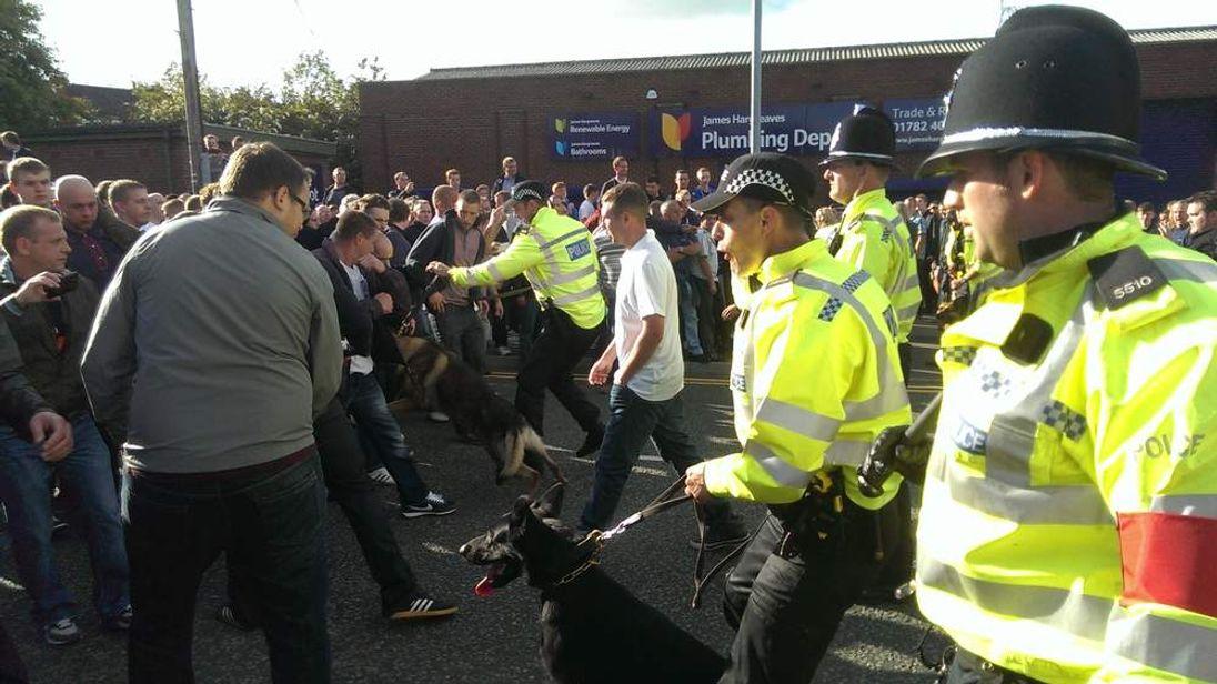 Football Fans Arrested After Port Vale Wolves Match