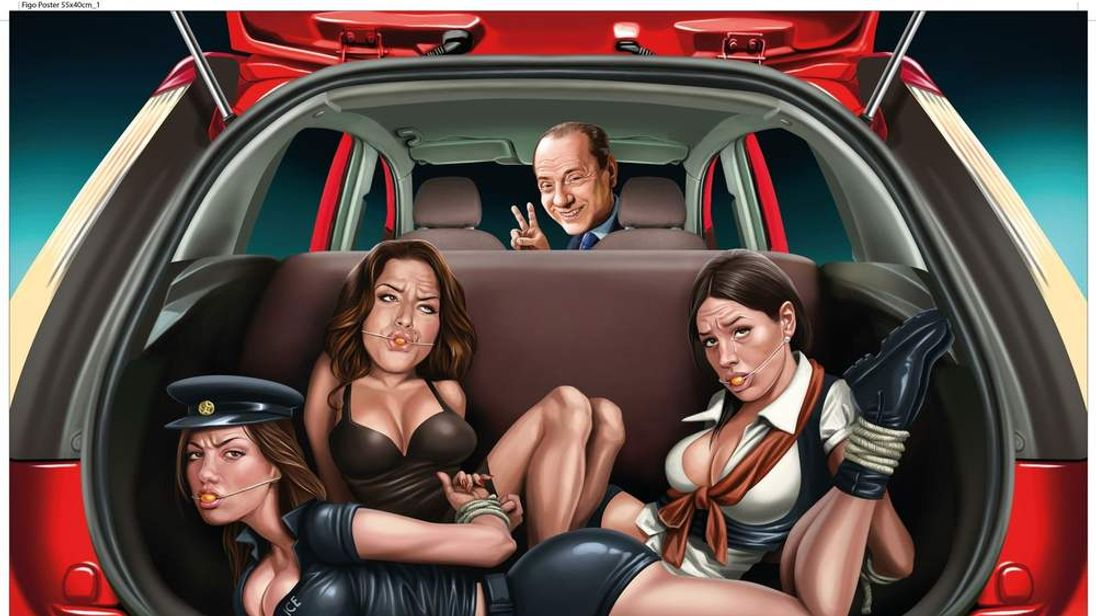 The advert featuring Berlusconi