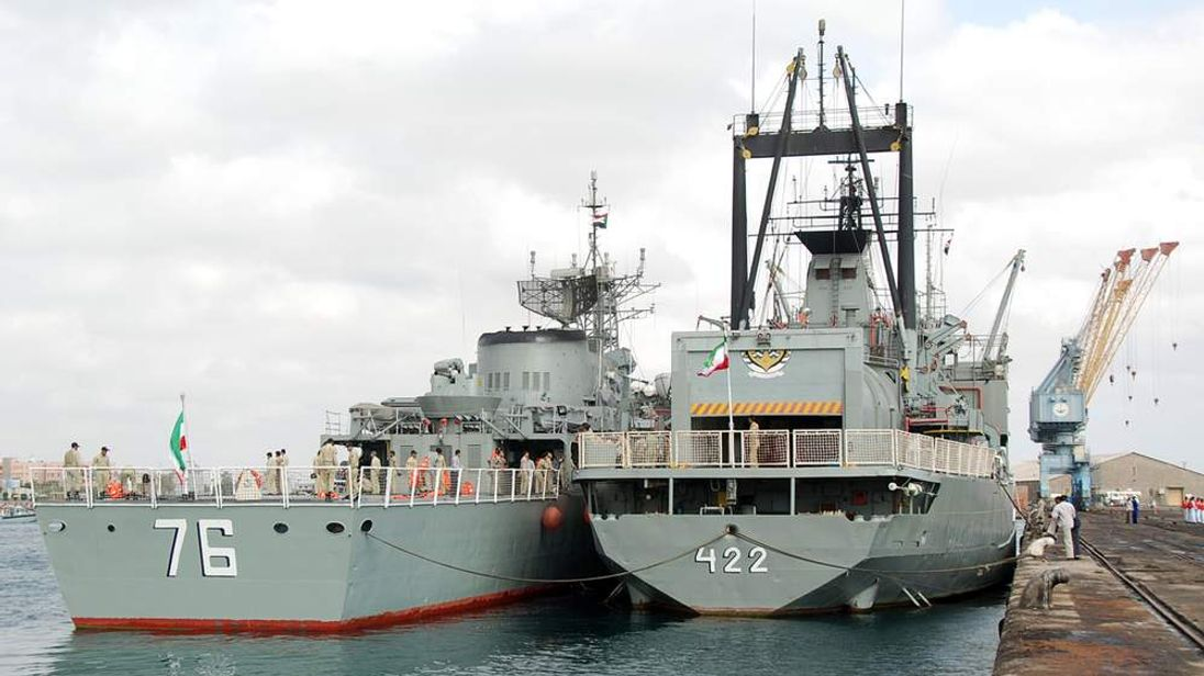 Two Iranian warships docked in the Sudan in 2012