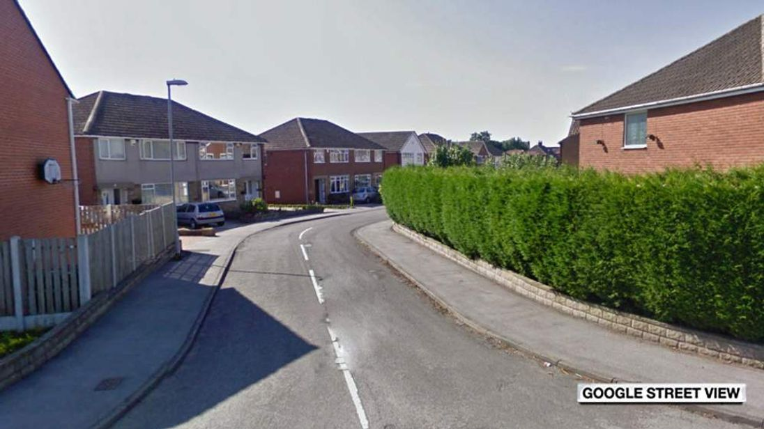 Farfield Court, Garforth, where two people died in house fire
