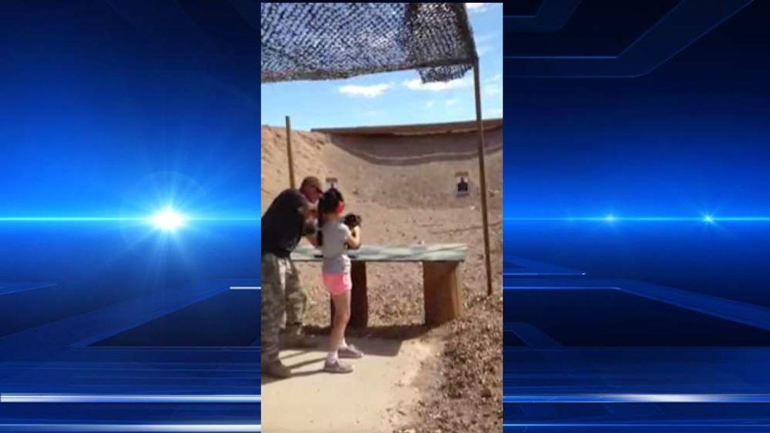 Girl Shoots Gun Instructor With Uzi