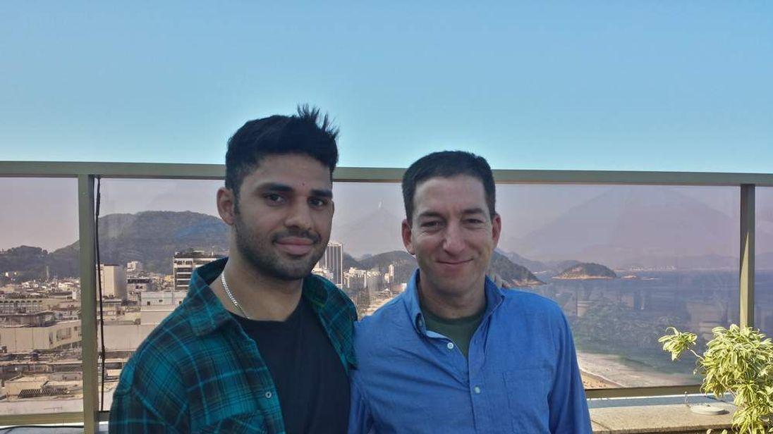 David Miranda (L) and Glenn Greenwald