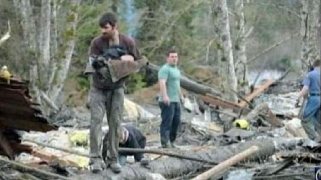 Good Samaritan saves baby from mudslide