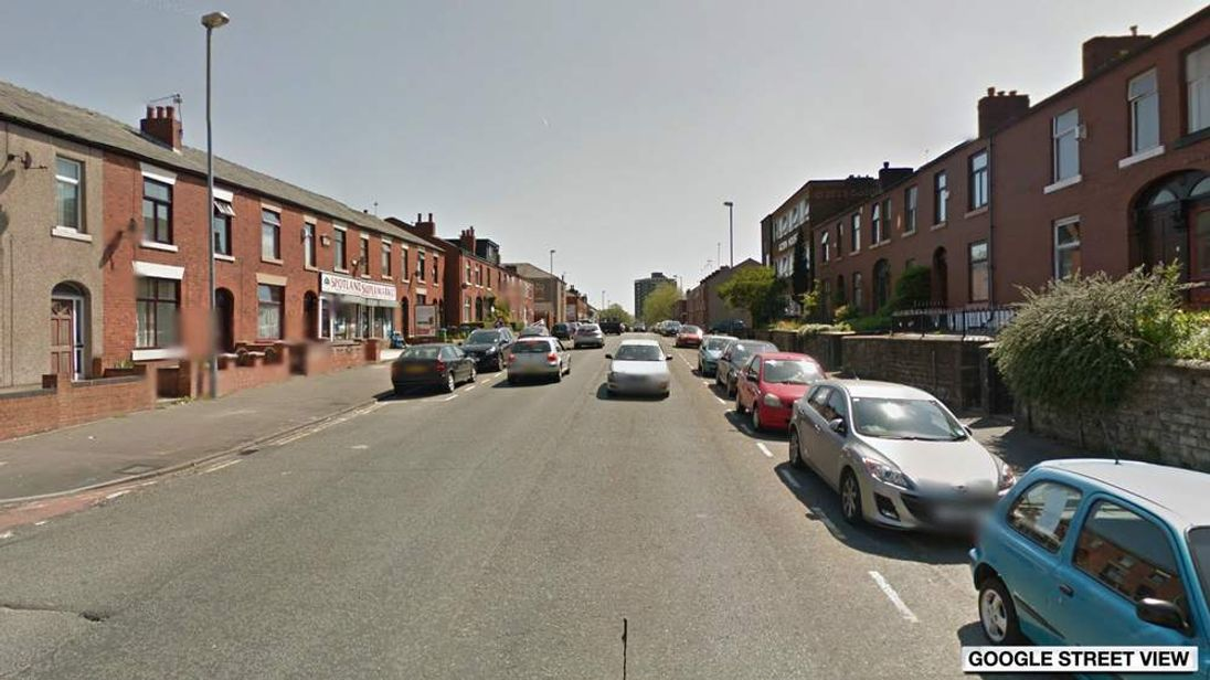 Google Street View image of Spotland Road in Rochdale