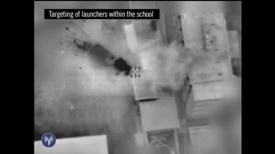 Israel Army footage of the targeting of militant rocket launchers