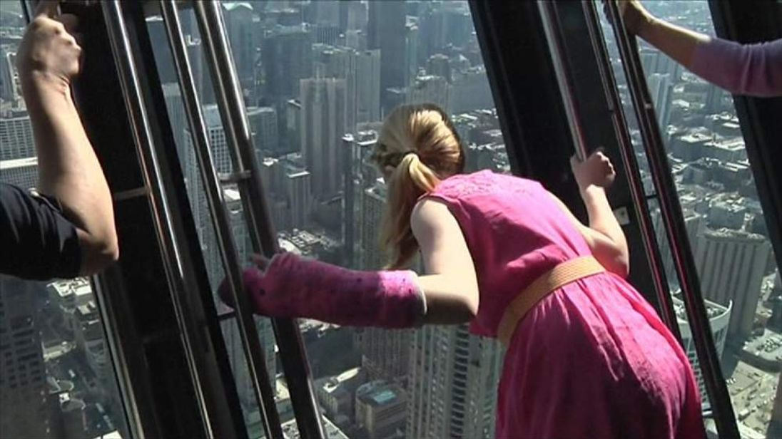 Tilt Attraction At Chicago Building