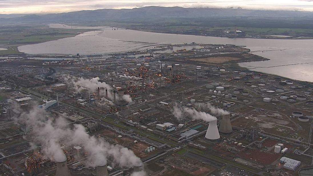 Grangemouth terminal aerial