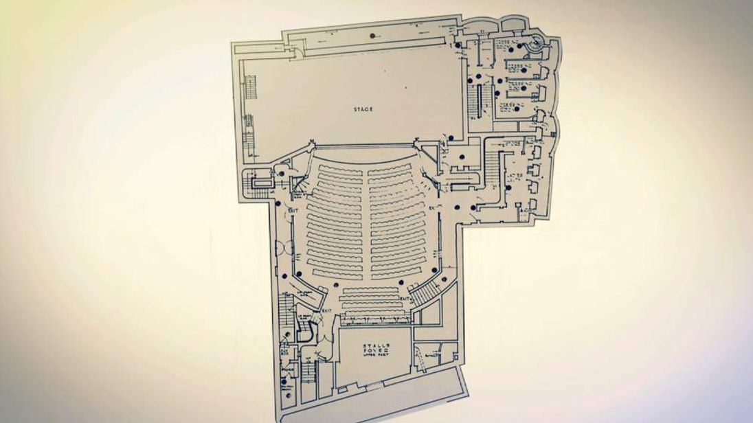 Apollo Theatre collapse - theatre lay-out