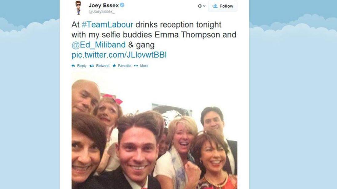 Joey Essex Twitter picture
