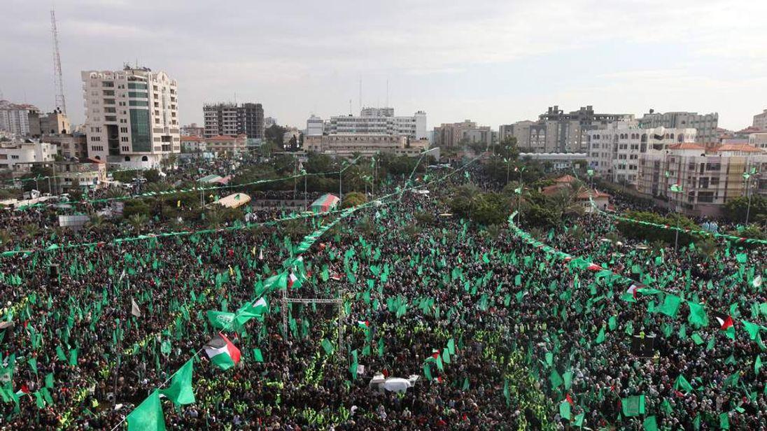 Hamas anniversary rally