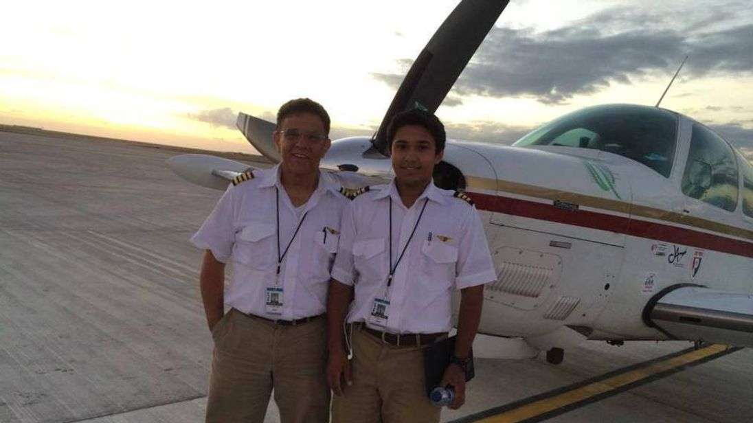 Haris Suleman (L) and his father, Babar Suleman Pic: Kamal Faridi