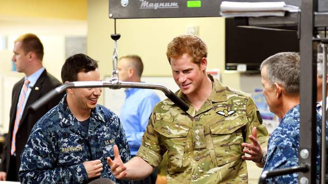 Prince Harry on his US tour