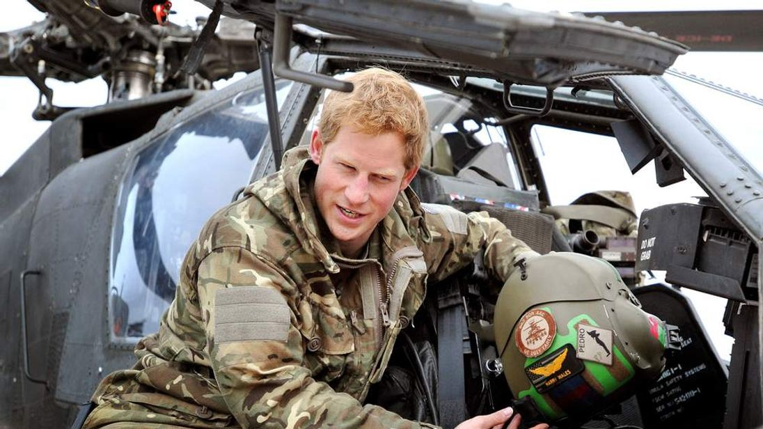Prince Harry in action in Afghanistan.