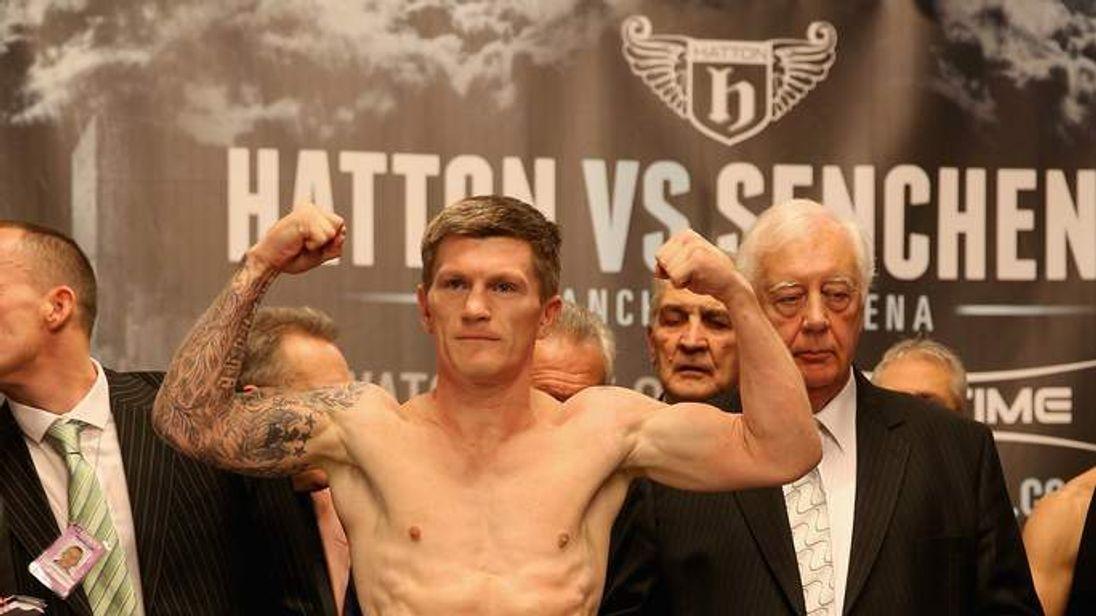 Ricky Hatton & Vyacheslav Senchenko Weigh In