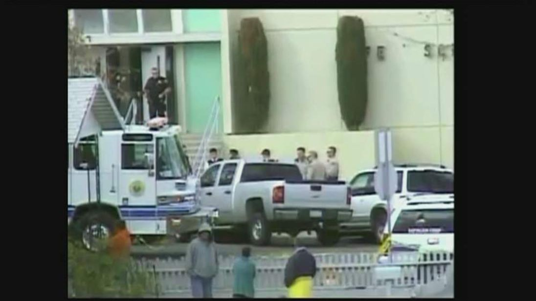 Taft High School, California where a shooting injured two people