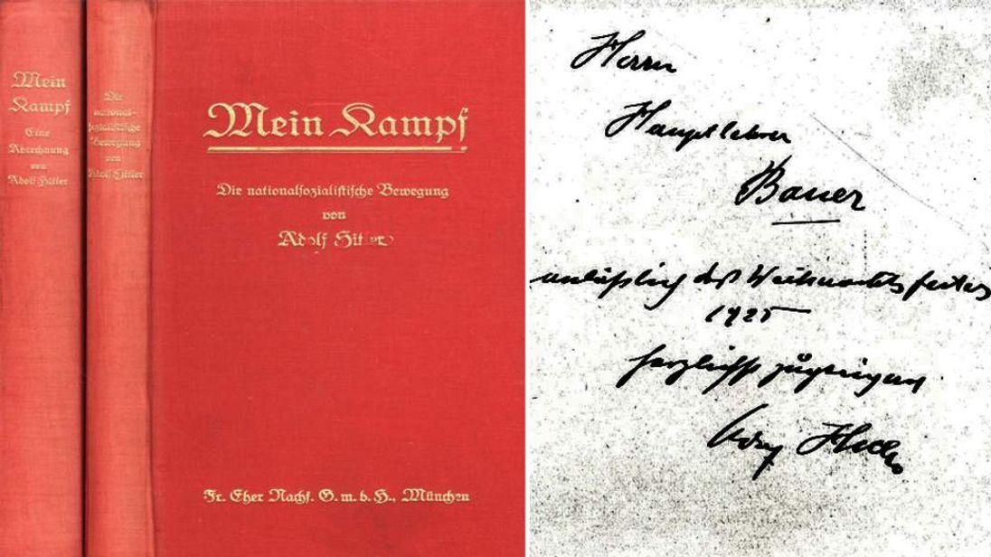 Adolf Hitler Signed Copy Of Mein Kampf