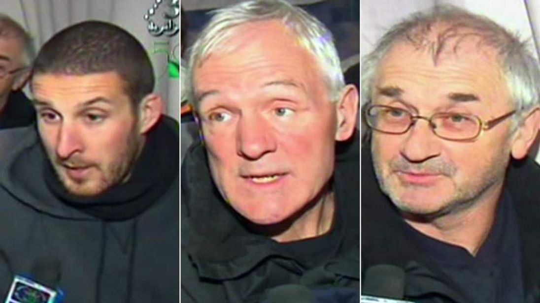 Darren Matthews and two other British hostages